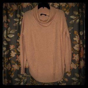 Ivanka Trump soft pink sweater gold zippers